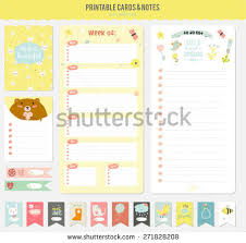 romantic love cards notes stickers labels stock vector 271828208