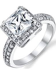 Wedding Engagement Rings by Amazon Com Jewelrypalace Cushion 3ct Cubic Zirconia Wedding Halo