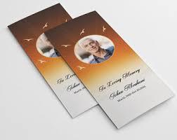 diy funeral programs trifold program etsy