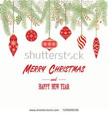 Happy New Year Decorations Vector by Christmas Ornamentschristmas Balls Decorations Christmas Hanging