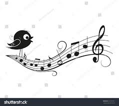 vector illustration music background bird musical stock vector