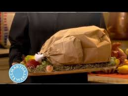 how to make a paper bag turkey thanksgiving decorations martha
