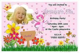 Birthday Invitation E Card Fairy Birthday Invitations Cloveranddot Com