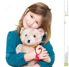 cute holding teddy bear stock images image 37499534