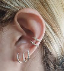 ear hoop pave mini hoops and the pave ear band ja style