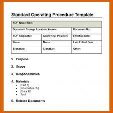 standard operating procedure example apa examples