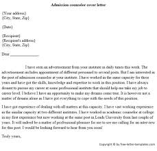 guidance counselor cover letter financial aid counselor cover