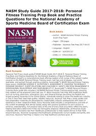 download pdf nasm study guide 2017 2018 personal fitness