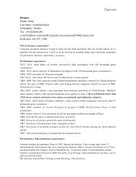 cv about film and journalism