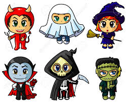 Monster Halloween by Cute Chibi Halloween Caracters Set Royalty Free Cliparts Vectors
