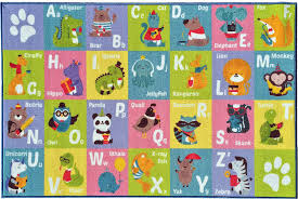 Abc Area Rugs Kev Cooper Playtime Collection Abc Alphabet Animal