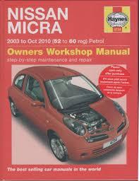 nissan micra k12 petrol 2003 2010 haynes service repair manual