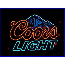 coors light sign amazon coors light neon light bar sign blue lighted beer signs amazon com