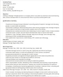 Massage Therapy Resume Examples by Sample Massage Therapist Resume 7 Examples In Word Pdf