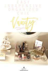 an easy inexpensive organized chic vanity flowers in my hair