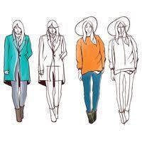 fashion model sketch vector image 2003001 stockunlimited