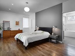 Bedroom With Red Accent Wall - gray walls and red accents bedroom midcentury with gray bedside