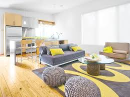 Light Yellow Rug Stylish Grey And Yellow Living Room Decor Ideas Living Room Accent