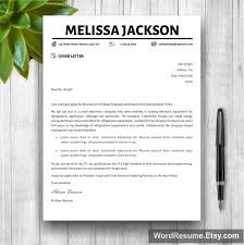 My Resume Template Creative Simple Resume Template U2013 U201cmelissa Jackson U201d