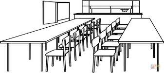 Dining Room Table Clipart Black And White Furniture Cool Classroom Table Clipart Classroom Desk