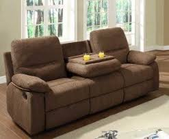 Brown Recliner Sofa Reclining Loveseat With Console Cup Holders Foter