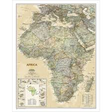 Map Of Africa With Capitals by Africa Executive Wall Map National Geographic Store