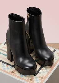 ankle high motorcycle boots leather high heels ankle boots jil sander 24 sèvres