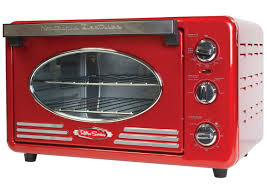 Toaster Oven With Auto Slide Out Rack Nostalgia Electrics Retro Series 0 78 Cu Ft Convection Toaster