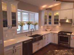love the big window u0026 deep sill white shaker style kitchen