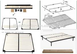 Metal Bed Frame With Wooden Slats China Modern Size Metal Bed Frame With Wood Slats On