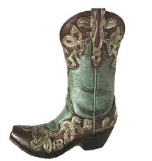 Cowboy Boot Planter by Appealing Rectangle Green Contemporary Plastic Intended For Very