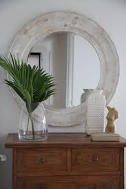 Mirror Over Buffet by Wood Round Mirror Round Mirror Wood Frame Turquoise Distressed