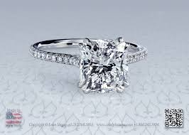 cushion solitaire engagement rings stunning a modern cushion solitaire engagement ring with micro