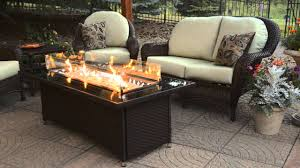 how to make a fire glass pit balsam montego fire pit table the outdoor greatroom company