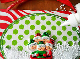 make christmas crafts using personalized christmas ornaments