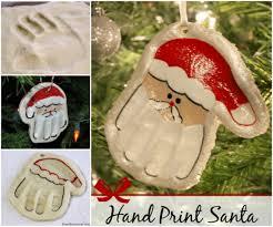 salt dough santa hand ornament recipe diy salt dough hands and