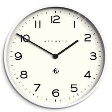 wall watch large modern wall clock minimalist white newgate echo 149pw