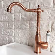 copper kitchen sink faucets aliexpress com buy antique red copper kitchen sink faucet swivel