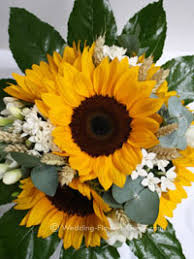 Fowers Real Weddings Emma U0027s Sunflower Wedding Fowers