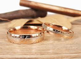 lord of the rings wedding band handmade gold dome shape custom your words in elvish lord of