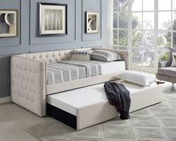 crown mark 5335iv set trina upholstered daybed cream mattresses