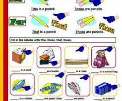 demonstrative pronouns worksheets worksheets