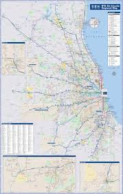 Cta Map Chicago Chicago Area Cta Metra And Bus Map
