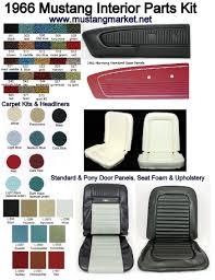 66 mustang coupe parts 1966 66 mustang interior kit parts