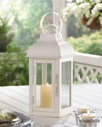 lanterns home decor medium white gable lantern wholesale at koehler home decor