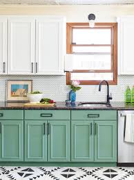 green kitchen cabinets with white countertops the best green paint colors for cabinets according to