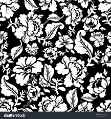 white seamless pattern retro floral stock vector 441173884