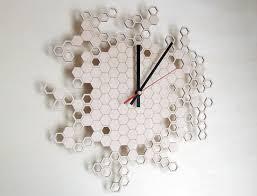 order the asymmetree honeycomb clock at shop holland com