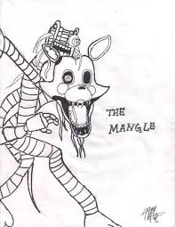 fnaf mangle coloring pages chibi coloring pages anime coloring page