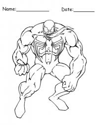 bulky venom spiderman printable coloring pages